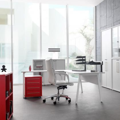Bureau ensembles en pc meubelen stevens meubel for Ladenblok op wieltjes